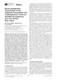 Rag-1 gene - Proceedings of the Royal Society B