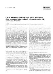 Cost of morphological specialization: feeding ... - Meyer Lab home