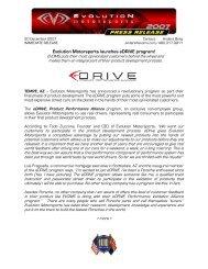 eDRIVE - Evolution Motorsports
