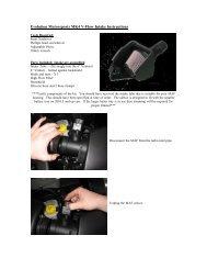 Evolution Motorsports MK4 V-Flow Intake Instructions