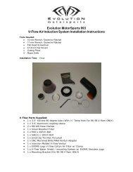 Installation Instructions (PDF) - Evolution Motorsports