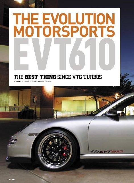 Motorsports evt610 - Evolution Motorsports