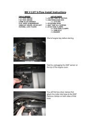 MK5 2.0T V-Flow Installation Instructions - Evolution Motorsports
