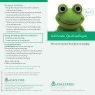Kühlende Quarkauflagen - Asklepios Kinderklinik Sankt Augustin