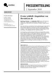 Pdf der Pressemitteilung - Evotec