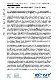 Deutliches JA zur Abzocker-Initiative! vom 01.12.2012 - EVP Thurgau
