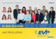 In den Grossrat weil Werte zählen eil Werte zählen il ... - EVP Thurgau