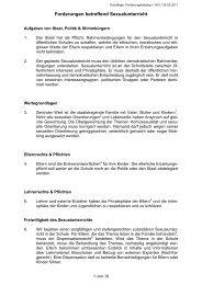 Forderungen betreffend Sexualunterricht - Zukunft CH