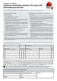 Unterschriftenbogen - EVP Toffen