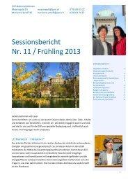Sessionsbericht Nr. 11 / Frühling 2013 - Marianne Streiff
