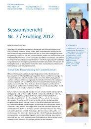 Sessionsbericht Nr. 7 / Frühling 2012 - EVP Thurgau