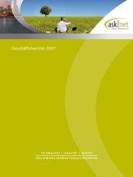 Geschäftsbericht 2007 (PDF) - Asknet