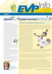 EVP Info Nr. 20 / Mai 2010 - EVP Thurgau