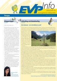 EVP Info Nr. 22 / November 2010 - EVP Thurgau