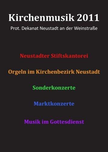 Kirchenmusik 2011 - Evangelische Kirche der Pfalz