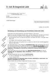 Einladung und Anmeldung zum Kirchlichen Unterricht (KU) http ...