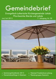 Juni-Julii 2013.pub - Ev.-luth. Kirchengemeinde Lahde