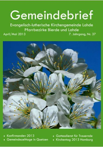 AprilMai 2013.pub - Ev.-luth. Kirchengemeinde Lahde