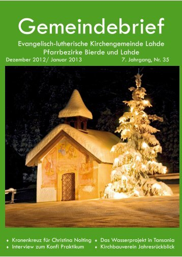 Dezember 2012-Januar 2013 .pub - Ev.-luth. Kirchengemeinde Lahde