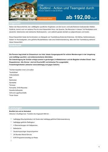 als PDF herunterladen - EVR Reisen GmbH