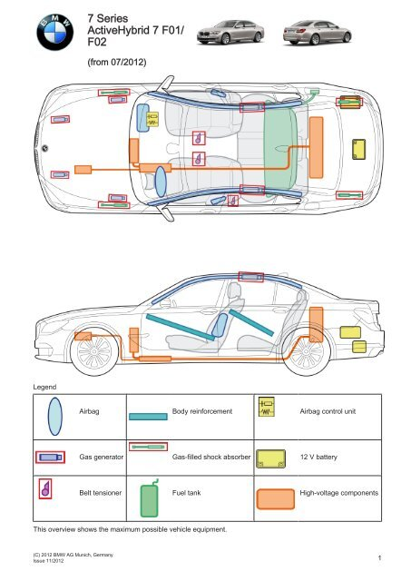 7 Series ActiveHybrid 7 F01/ F02 - Electric Vehicle Safety