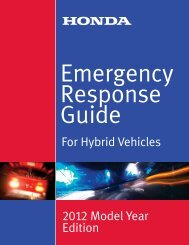 Emergency Response Guide – For Hybrid Vehicles - Electric Vehicle ...