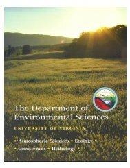 Graduate Student Brochure - Department of Environmental Sciences ...