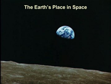 The Earth's Place in Space