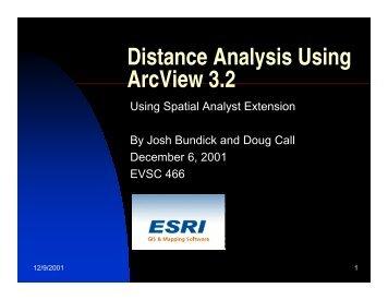 Distance Analysis Using ArcView 3.2