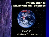 Introduction to Environmental Sciences - Department of ...
