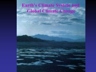 Earth's Climate System and Global Climate Change