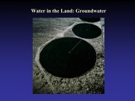 Groundwater and Lakes