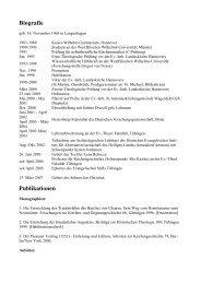 Biografie Publikationen - Evangelisches Stift