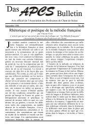 Rhétorique et poétique de la mélodie française - Evta.ch