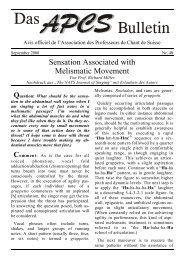 Sensation Associated with Melismatic Movement - EVTA