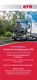 Technische Fachtagung der GTÜ - EVU e.V.