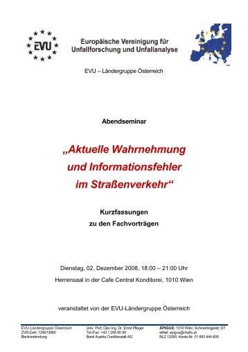 """""""Aktuelle Wahrnehmung und Informationsfehler im ... - EVU e.V."""