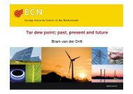 Tar dew point; past, present and future - EVUR
