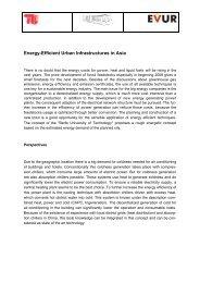 Energy-Efficient Urban Infrastructures in Asia - EVUR