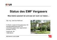 Status des EMF Vergasers - EVUR - TU Berlin