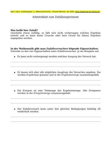 Arbeitsblatt Datenauswertung am Gymnasium Klasse 8