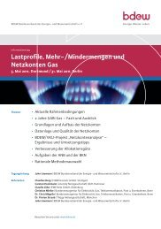 Lastprofile, Mehr-/Mindermengen und Netzkonten Gas - EW Medien