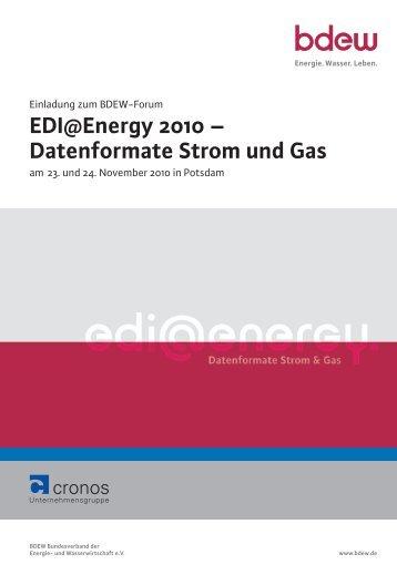 EDI@Energy 2010 ? Datenformate Strom und Gas - TAM Online