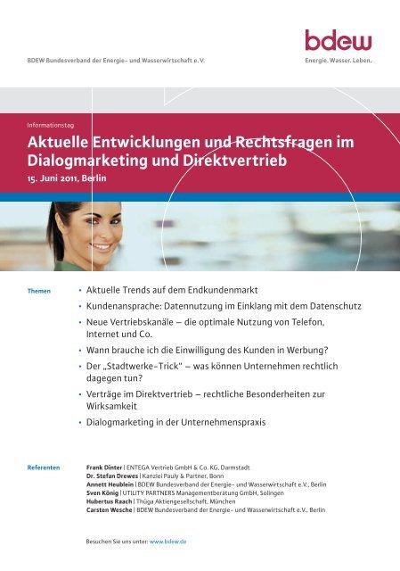 Aktuelle Entwicklungen und Rechtsfragen im ... - EW Medien