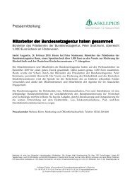 Spende der Bundesnetzagentur - Asklepios Kinderklinik Sankt ...