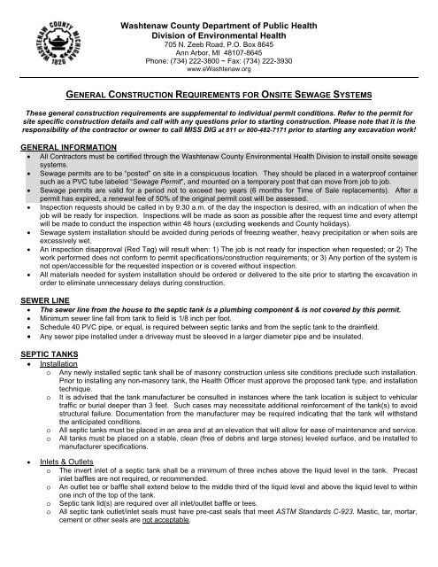 General Construction Guidelines For Onsite Sewage Systems City of ann arbor (2). yumpu