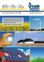 Wir für Sie - Ausgabe März 2013 - Energie- und Wasserversorgung ...