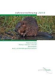 Jahresrechnung 2010 - und Elektrizitätswerk der Gemeinde Buchs SG.
