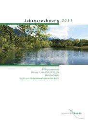 Jahresrechnung 2011 - Wasser- und Elektrizitätswerk der Gemeinde ...