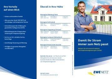 Damit Ihr Strom immer zum Netz passt - EWE NETZ GmbH